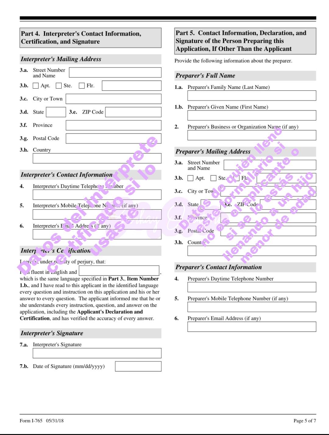 renovar el permiso de trabajo en Estados Unidos hoja 5
