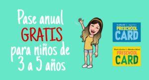 Pase Anual Gratis para niños de 3 a 5 años a los parques Seaworld, Aquatica, Bush Gardens y Adventure Island